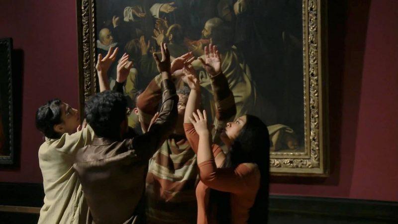 Ganymed in Love, Szene vor der Rosenkranzmadonna von Caravaggio, Christian Nickel und Ensemble